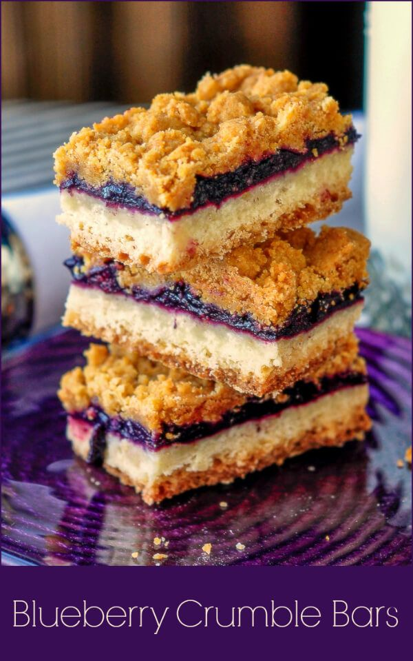 These blueberry crumble bars have a sweet blueberry compote between a buttery shortbread base and a graham crumb crumble topping. Freezer friendly too!