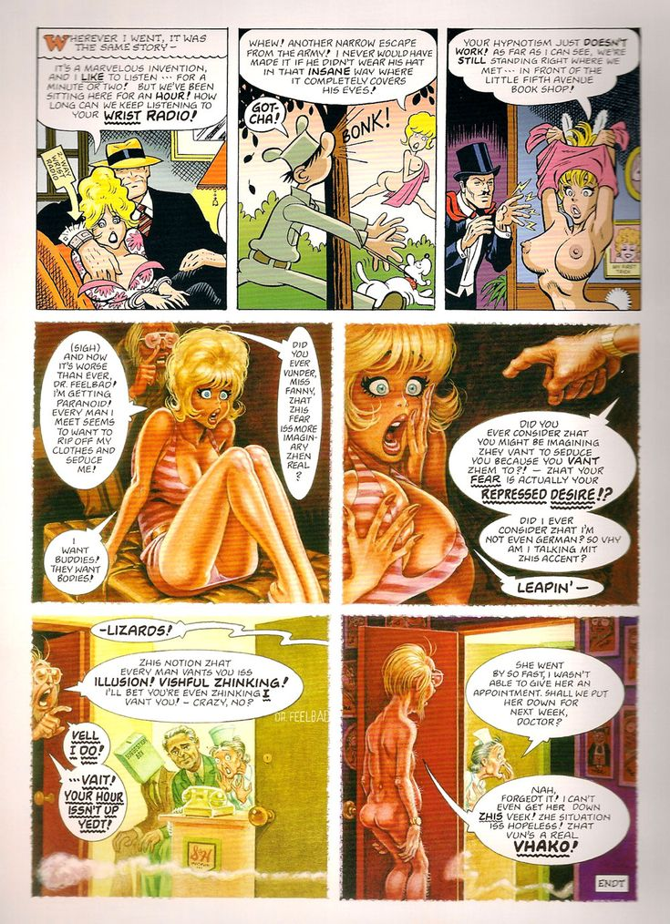 Erotic comic panels