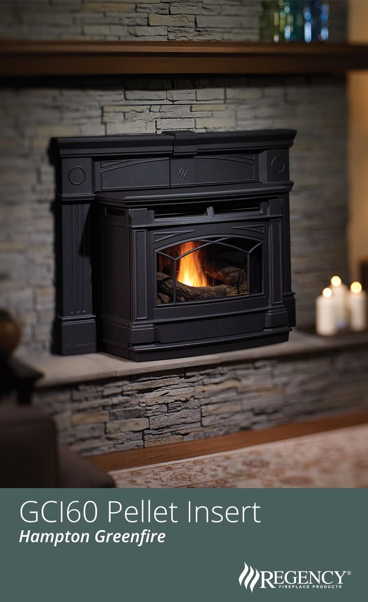 Inserts fireplace accessories new york by bowden s fireside - Transform Your Existing Fireplace With The Hampton Large Cast Iron Biomass Pellet Insert