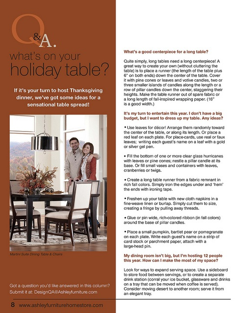 Whats On Your Holiday Table November TrendWatch By Ashley Furniture HomeStore