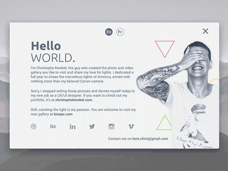 Personal Social Card banner