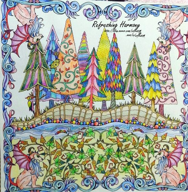 Enchanted Forest An Inky Quest Coloring Book For Children Adult Relieve Stress Kill Time Graffiti