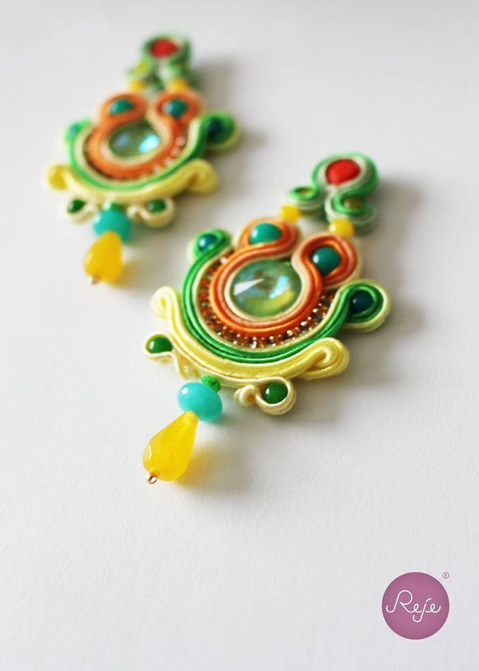 Soutache jewelry, soutache earrings, chandelier earrings, handmade in Italy https://www.etsy.com/it/shop/Rejesoutache?ref=hdr_shop_menu FACEBOOK: https://www.facebook.com/rejegioielliinsoutache/