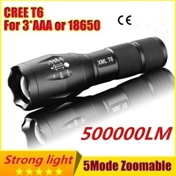 Zoomable 3 Modes T6 LED Flashlight Lamp Light 18650 Battery Focus Torch WT