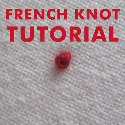 DIY French Knot Embroidery Tutorial CuriousDoodles