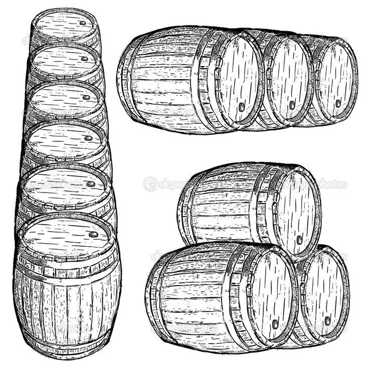 botte di vino DA COLORARE   Colore cognac - Disegni da colorare - IMAGIXS
