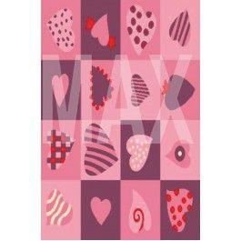 Υφαντή μοκέτα (χαλί) Antique Hearts Pink