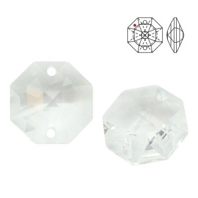 STRASS Swarovski 8116 Octagon 14mm Crystal with 2 holes  Dimensions: 14,0 mm Colour: Crystal 1 package = 1 piece