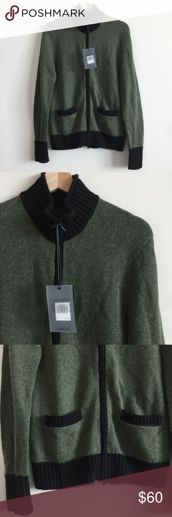 EFM/Dockers Men's Zip Cardigan Sweater 🌷Please Read the description! Thanks!🌷  Brand new with tag Size: M Retail: $210 Measurements: arm pit to arm pit  Color may be slightly  different bcz of lighting  🌈💯AUTHENTIC 🌈All sales are final 🚭Smoke & Pet free home 🙅NO TRADES  🙅NO HOLDS Dockers Sweaters Cardigan