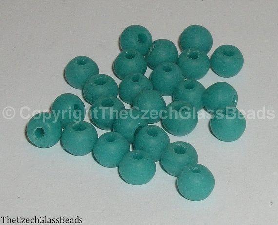50g Czech Vintage Sintered Saucer Beads 9mm by TheCzechGlassBeads