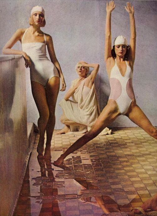 There's More To a Bathing Suit Than Meets the Eye. Photographed by Deborah Turbeville for US Vogue, May 1975
