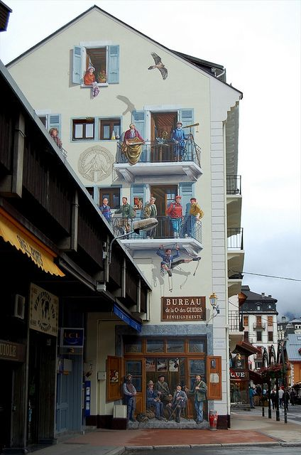 Chamonix  Trompe  l`ail...this is such a pretty town