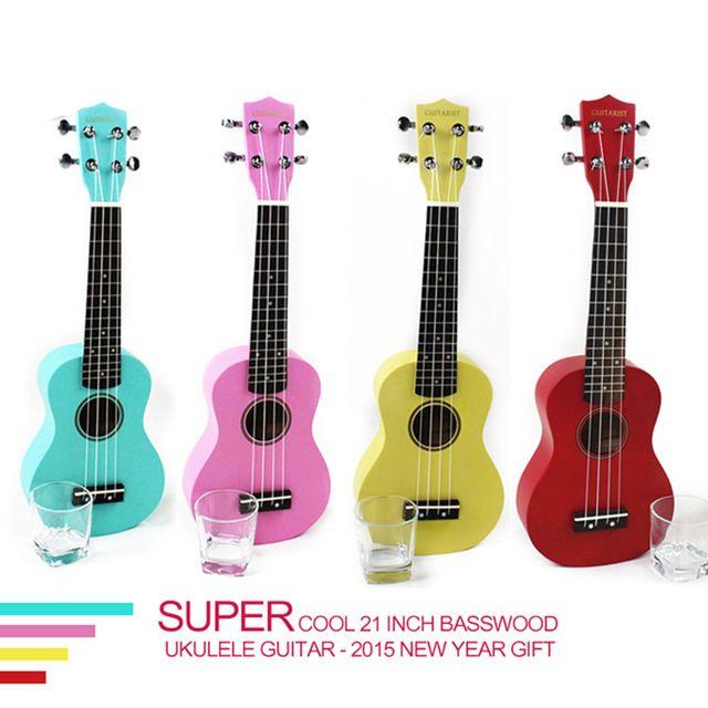 Качественная красочная гавайская гитара из липы для начинающего гитариста, 21 дюйм, гитара для обучения и тренировок, низкая цена, новогодний подарок, горячая распродажа