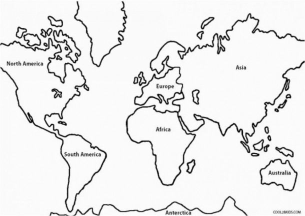 North America Coloring Pages Coloring Coloringpages World Map