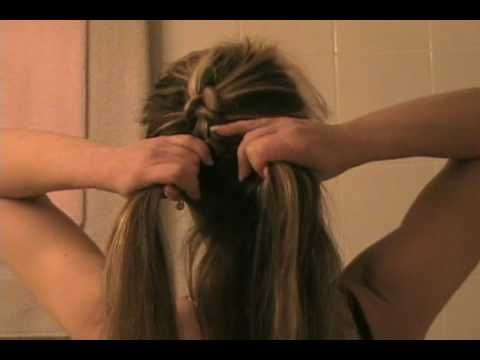 Reverse French braid tutorial