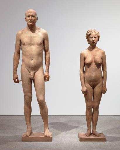"""Antonio López. """"Man and Woman""""."""