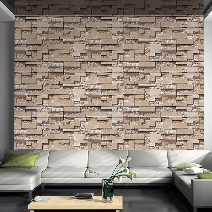 Hot Sale 3D Brick Design PVC Wallpapers Home Decorative Brick Pattern  Wallpaper