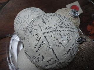 DIY Christmas Ornament# Paper Mache Christmas Ornament # Natural Christmas