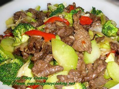 How To Make : Beef with Broccoli and Choko Stirfry