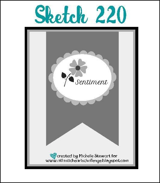 A weekly sketch challenge blog hosted by Atlantic Canadian Michelle Stewart. Sketch # 220