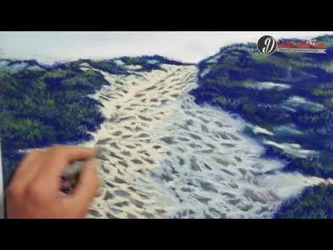 Tuto vidéo : découvrir le pastel sec en dessinant un paysage de bord de mer par Léo Dessin - l'Atelier Géant