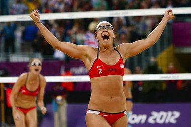 August 7, 2012: London Summer Olympic Photos of the Day  Go for gold!!!!  #beachvolleyball