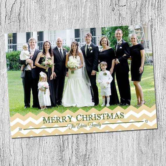 Photo Christmas Card  Digital file or Printed Cards by peachymommy