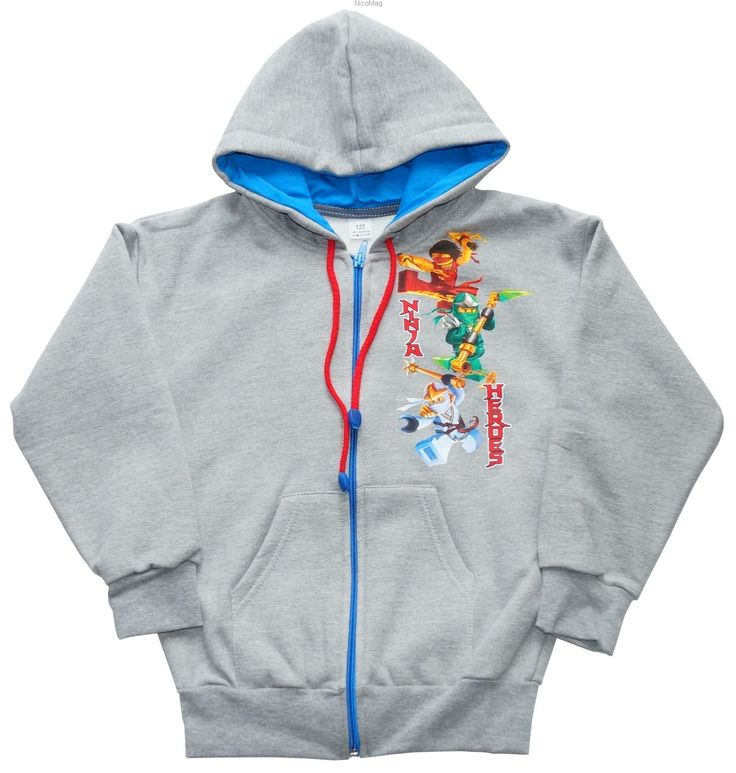Bluza z kapturem Ninja,szara-chłopiec