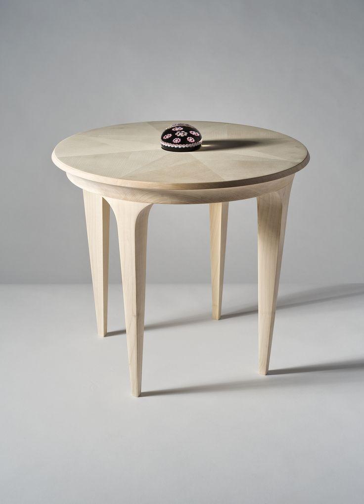 """Tête-à-Tête"" dining table in maple natural wood. Design © Marijena Junod & Djordje Bjelobrk"
