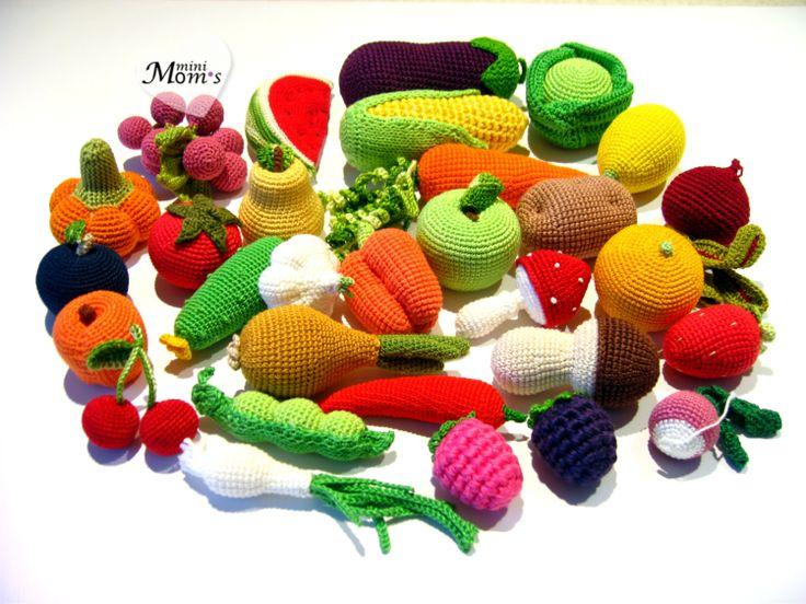 Crochet Amigurumi Vegetables : 17 mejores imagenes sobre comida fieltro/crochet en ...