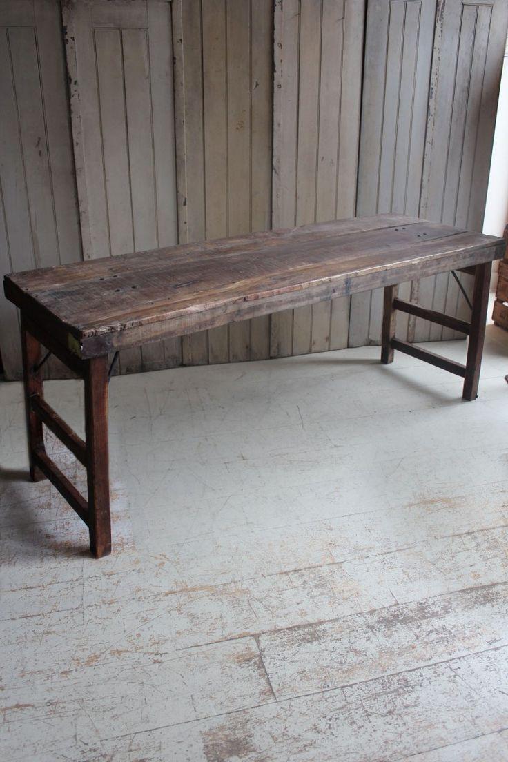 attic - ORIGINAL INDIAN FOLDING 'EVENT' TABLE -