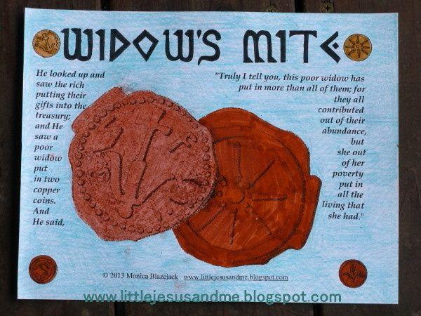 Widow S Mite Bible Craft