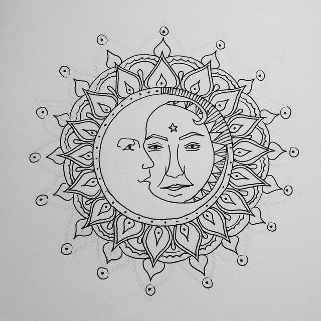 sun and moon mandala drawing tumblr - Google Search ...