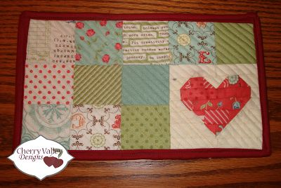 Cherry Valley Designs: Life's A Charm: Valentine's Mug Rugs
