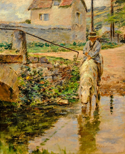 Theodore Robinson - The Watering Place, 1891 at Baltimore Museum of Art