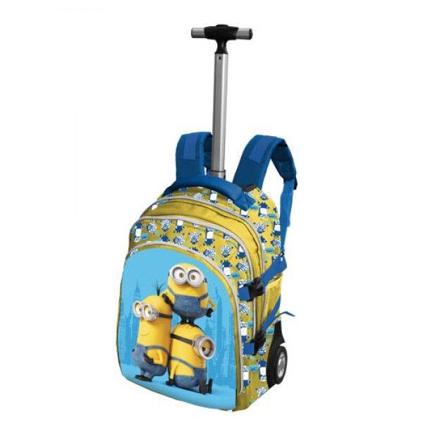 """I Minions Trolley Scuola e Viaggio """"Hello"""" - TocTocShop.com - Fantastico per i Bambini, Imbattibile nei Prezzi"""