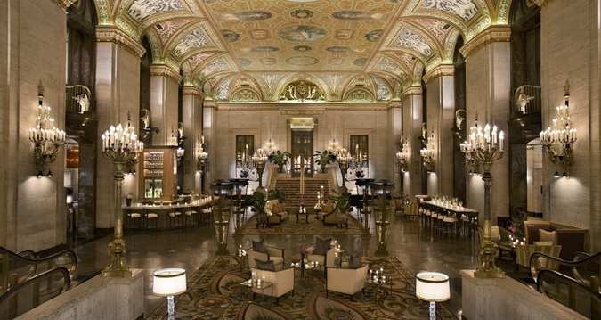 Indoor photo shoot locationp The Palmer House Hilton Hotel - Chicago, IL - Lobby Overview