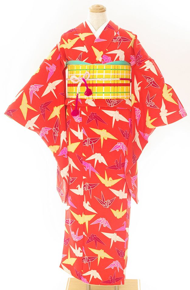 「アンティーク 色とりどりの折り鶴」の商品画像