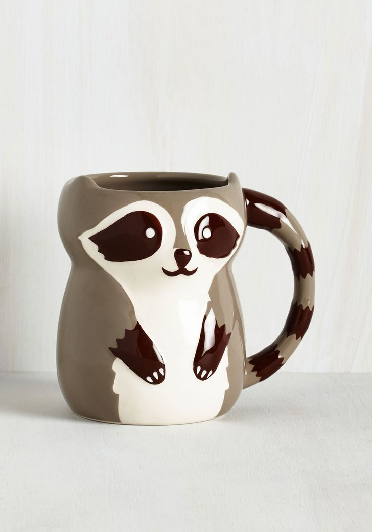 Bandit Together Mug. Theres nothing quite like coffee shared with friends, so spread the love by pouring a cup in this super cute ceramic mug! #multi #modcloth