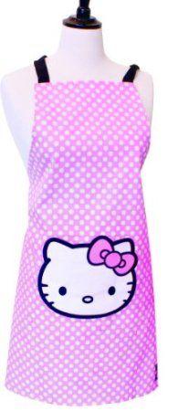 Hallo Kitty Damen Erwachsene rosa Baumwolle Schürze: Amazon.de: Küche & Haushalt