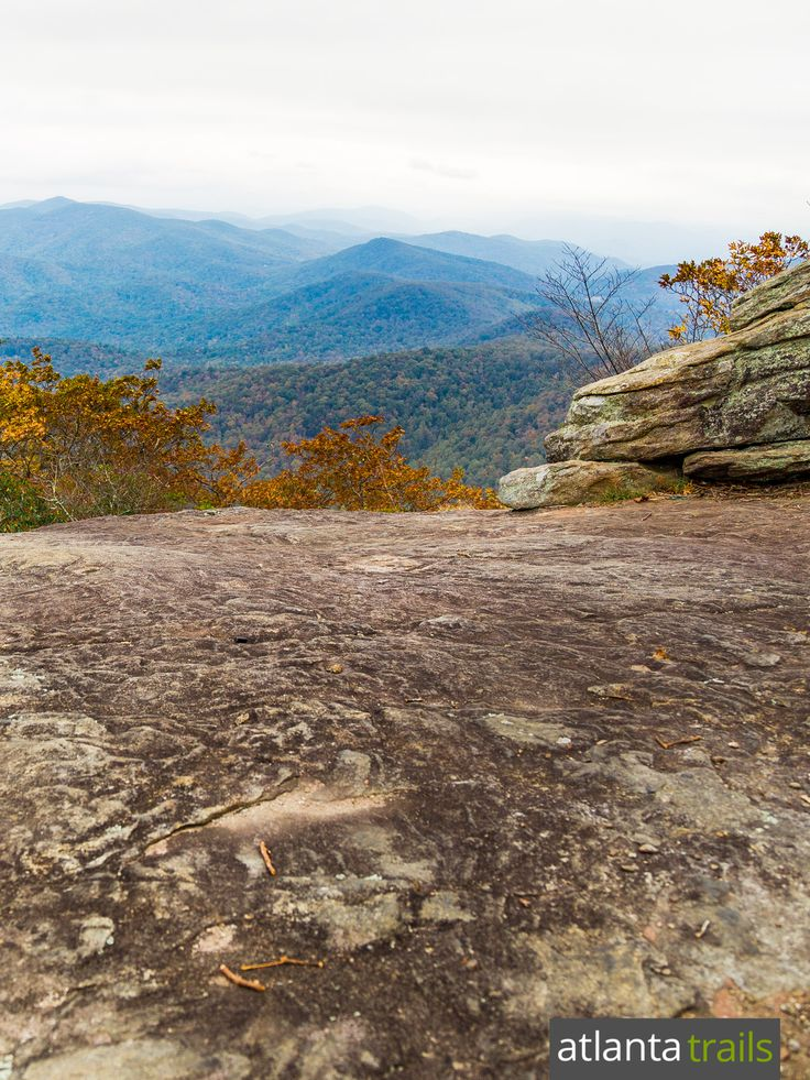 Hike to stunning summit views at Blood Mountain on the Appalachian Trail in…