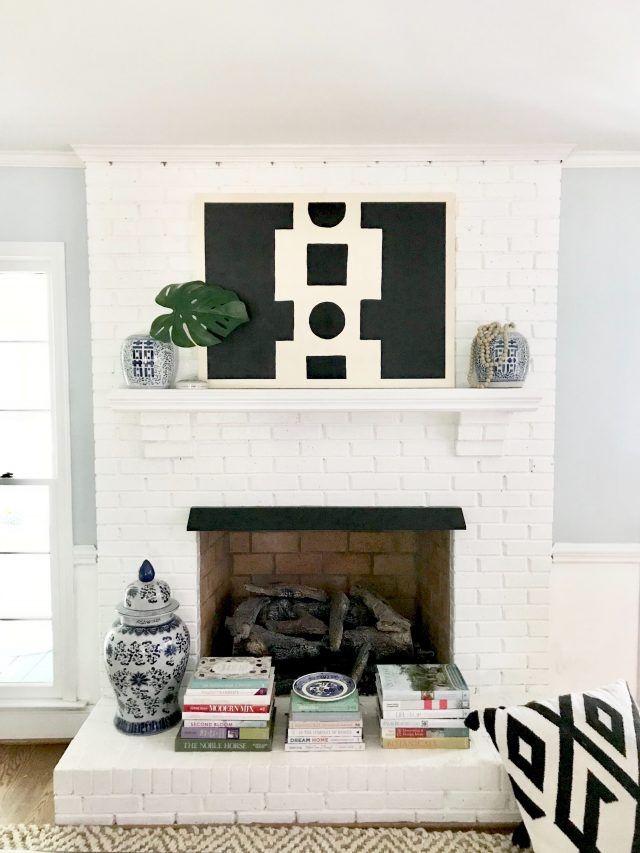 3 Easy Mantel Decorating Ideas Using Art Emily A Clark Fireplace Mantel Decor Mantel Decorations Wall Decor Living Room Modern