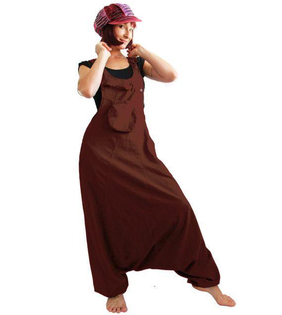 Aladdin Harem Jumpsuit dungarees Coffee Aladdin by manaKAmana