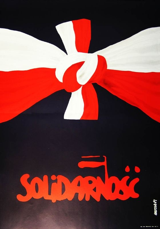 """""Solidarity"" poster using the colours of the national flag."""