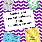 Included is a colored and grey scale version of a homework folder label, folder pocket labels, math journal label, and writer's notebook labels. Th...