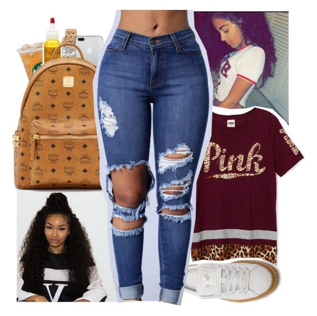 """Untitled #379"" by kfashion757 ❤ liked on Polyvore featuring ELLE Time & Jewelry, SheaMoisture, MCM and Puma"