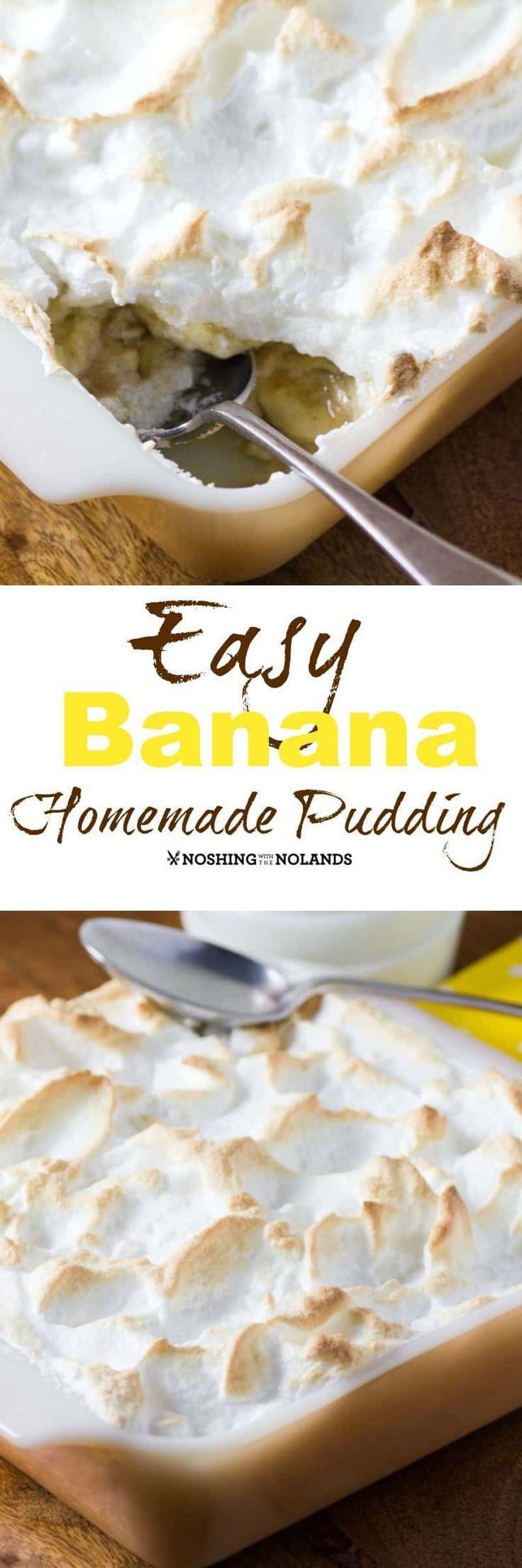 Pudín casero de plátano fácil - Stacia - #Banana #Easy #homemade #Pudding #Stac ...