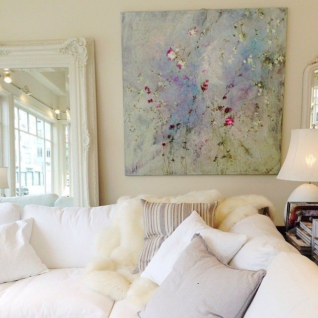Love this Laurence Amélie painting from Rachel Ashwell's Shabby Chic Couture in San Francisco