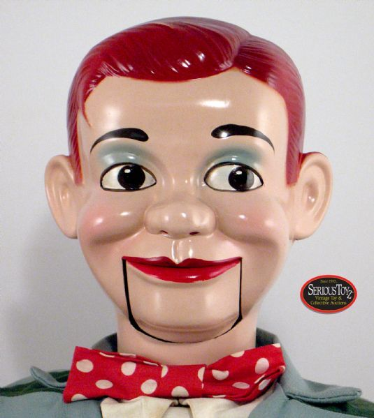 """Paul Winchell's New Jerry Mahoney Ventriloquist Dummy"", c. 1950, Juro Doll Co.; 30"" tall"