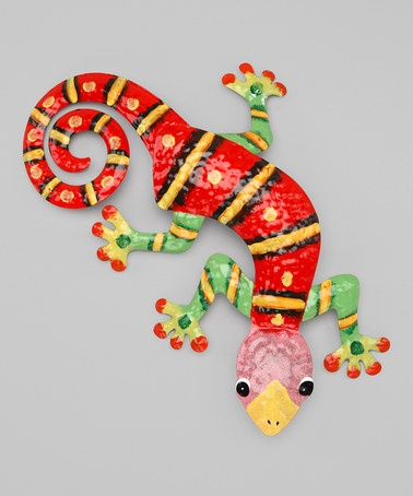 Take a look at this Red & Lime Green Gecko Wall Art by Dennis East International on #zulily today!